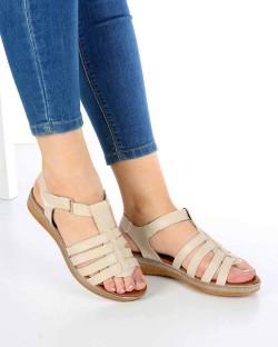 Denna Bej Cilt Poli Taban Kadın Sandalet