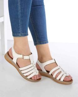 Denna Beyaz Cilt Poli Taban Kadın Sandalet