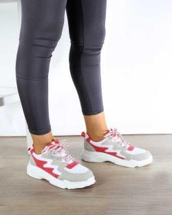 Fiorello Nar Renk Yüksek Taban Bağcıklı Kadın Spor Ayakkabı
