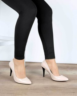 Ten Rugan İnce Topuk Klasik Kadın Stiletto