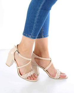 Sandro Ten Rugan Örgü Kemer Topuklu Kadın Ayakkabı