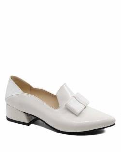 Bellatrix Beyaz Baskı Rugan Tokalı Kadın Ayakkabı