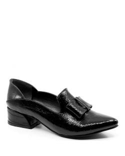 Bellatrix Siyah Baskı Rugan Tokalı Kadın Ayakkabı