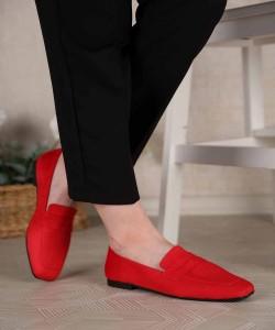 Bevis Küt Burun Loafer Kadın Ayakkabı