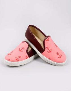 Mosimoso Bordo Denizci Figür Sneakers Kadın Ayakkabı
