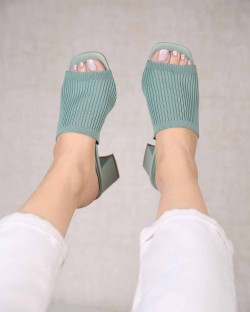 Cecile Triko Topuklu Kadın Ayakkabı