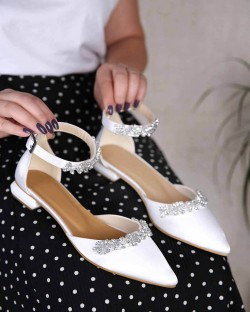 Debbie Taş İşlemeli Bilek Bağlı Kadın Ayakkabı