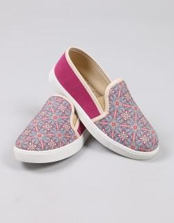 Mosimoso Desenli Kumaş Sneakers Kadın Ayakkabı