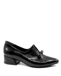Dolores Siyah Baskı Rugan Bıyık Toka Topuklu Kadın Ayakkabı