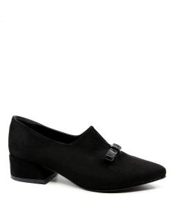 Dolores Siyah Süet Bıyık Toka Topuklu Kadın Ayakkabı