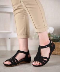 Frasco Kot Cırtlı Bilek Bağlı Kadın Sandalet