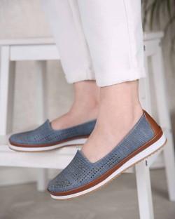 Irven Lazer Kesim Yüksek Taban Kadın Ayakkabı