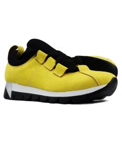 Sarı Renk Bağcık Detaylı Bayan Günlük Ayakkabı