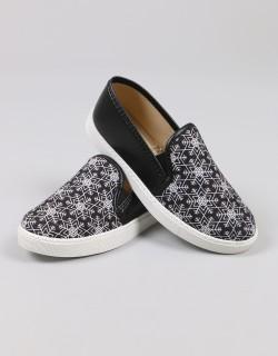 Mosimoso Siyah Kar Desenli Sneaker Kadın Ayakkabı