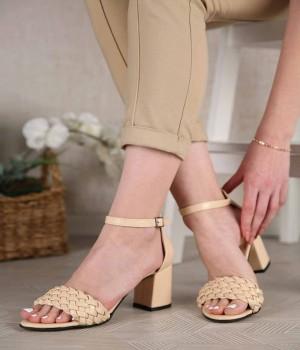 Allura Örgü Kemer Bilek Bağlı Topuklu Kadın Ayakkabı