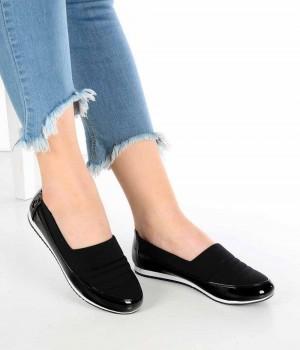 Riviera Siyah Rugan Streçli Kadın Ayakkabı