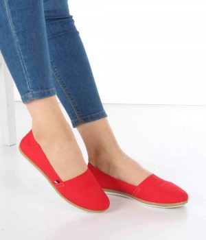 Monte Kırmızı Keten Espadril Kadın Ayakkabı