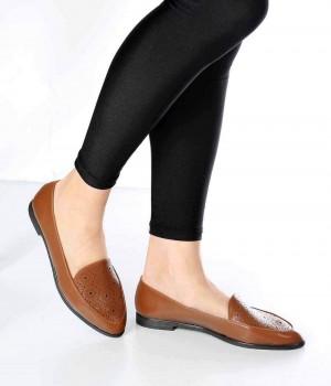 Mirella Taba Cilt Lazer Desen Kadın Ayakkabı