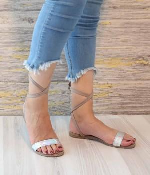 Stella Vizon Hologram Sarma Bilek Bağlı Kadın Sandalet