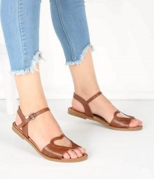 Taba Kalp Kemer Bilek Bağlı Kadın Sandalet