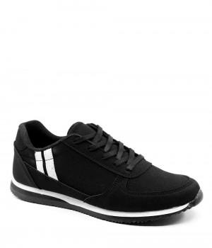Wellar Siyah Beyaz Bağcıklı Kadın Spor Ayakkabı