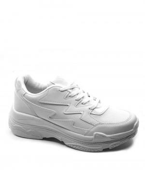 Rally Beyaz Cilt Bağcıklı Kadın Spor Ayakkabı