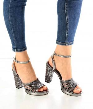 Valeria Platin Topuklu Kadın Ayakkabı