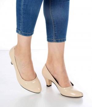 Eldora Ten Rugan Kısa Topuk Kadın Ayakkabı