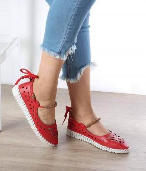 Carlina Kırmzı Cilt Kadın Ayakkabı
