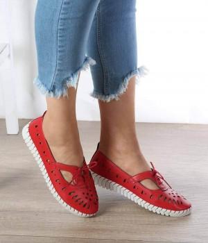 Carlotte Kırmızı Cilt Kadın Ayakkabı