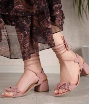 Cathie Sarma Bağcık Topuklu Kadın Ayakkabı