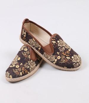 Mosimoso Çiçek Desenli Hasır Espadril Kadın Ayakkabı