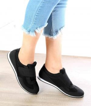 Contessa Siyah Cırtlı Kadın Spor Ayakkabı