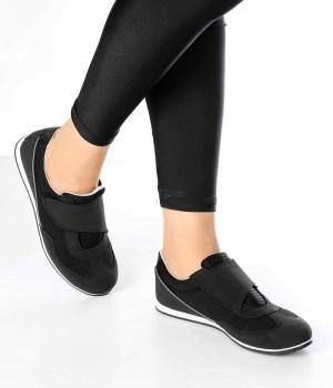 Contessa Siyah Gri Cırtlı Kadın Spor Ayakkabı