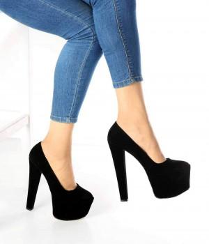 Donelle Siyah Süet Platform Kadın Ayakkabı