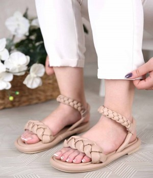 Florrie Örgü Kemer Poli Taban Kadın Sandalet