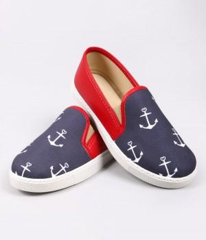 Mosimoso Kırmızı Denizci Figür Sneaker Kadın Ayakkabı