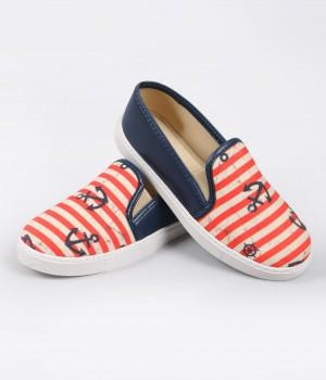 Lacivert Denizci Figür Sneaker Kadın Ayakkabı