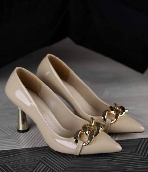 Lainey Zincir Kemer Tasarım Topuk Kadın Ayakkabı
