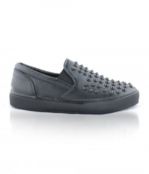 Mosimoso Günlük Siyah Cilt Trok Detaylı Ayakkabı