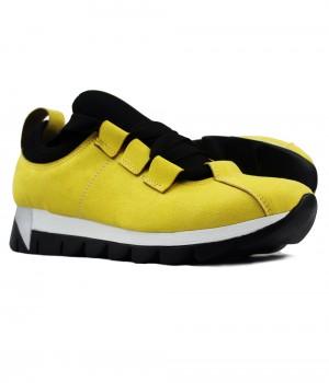 Mosimoso Sarı Süet Bağcık Detaylı Kadın Spor Ayakkabı